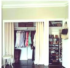 open closet door closet curtain ideas create a new look for your room with these closet open closet door
