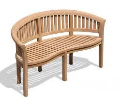 wimbledon teak banana bench garden benches