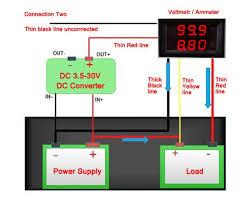 drok dc voltmeter ammeter dual display drok connection 2