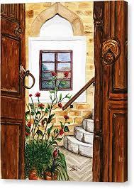 open door painting. Open Doors Canvas Print By Bonnie Schallermeir Open Door Painting D