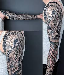 Dragon Sleeve Done By Gabriele Cardosi At Cloak Dagger London