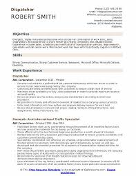 Dispatcher Resume Samples Dispatcher Resume Samples Qwikresume