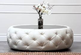 leather coffee table with storage white