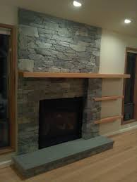diy stone veneer fireplace home decor how to hang mantle on install mantel shelf ideas marvellous
