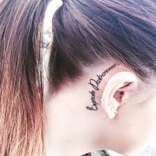Girl Tattoos Behind Ear Designs 100 Cute Examples Of Tattoos For Girls Page 4 Of 4 Lava360