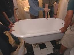 Cast Iron Tub Refinishing. The Acid Based Primer Is Sprayed On ...