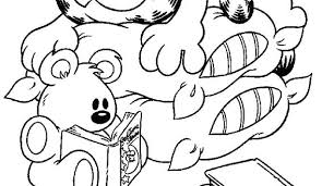 Garfield Cartoon Characters Coloring Pages For Kids Boo It S Sheets