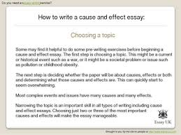cause and effect essay structure co cause