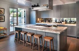 cottage kitchen ideas. Cottage Kitchen With Gray Cabinets White Calacatta Marble And Wide Plank Wood Floors Ideas O
