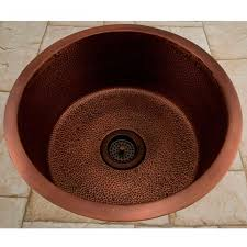 hammered copper kitchen sink:
