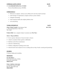Other Qualifications Resume Magdalene Project Org