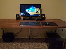 Counter Top Desks Ikea Hacks Make A Desk With Karlby Countertop And Sjunne Legs