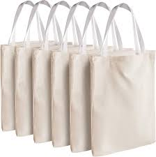 """Canvas Tote Bags - Bulk 12 Pack 13""""x13"""" Fabric Blank Tote Bags, Natural  Cotton for DIY Crafts, Gift Bag and Wedding, Birthday, Promotion Giveaways,  or Reusable Grocery Bag by Bedwina: Amazon.co.uk: Kitchen"""