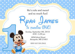 baby mickey mouse invitations birthday baby mickey mouse invitation template oxyline f8d0364fbe37
