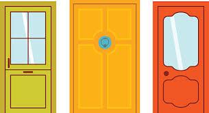 house door clipart. Doors Isolated Vector Illustration. Art Illustration House Door Clipart