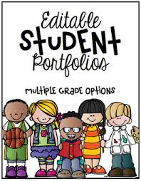 Student Portfolios Student Portfolio Cover Editable By First Grade Made Tpt