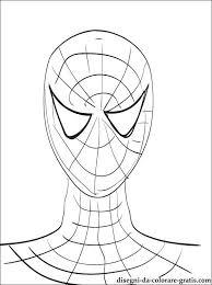 Disegno In Bianco E Nero Ritratto Di Spiderman Disegni Da Colorare