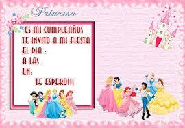 Invitaciones De Cumpleaños Princesas Disney Muy Sencillo