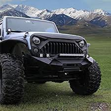 jeep rubicon. esright front matte grille fury grid gladiator vader grill for jeep wrangler rubicon sahara sport jk