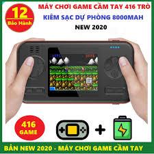 Máy chơi game cầm tay 416 game trong 1 chiếc máy , tích hợp Pin sạc dự  phòng 8000mAh - Máy chơi game D12