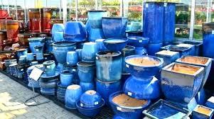 ge ceramic planters blue planter pot pots for plants indoor outdoor glazed flower large canada extra