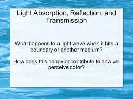 Color And Light Absorption Light Absorption Reflection And Transmission Ppt Video
