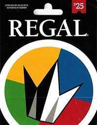 Regal Entertainment Gift Card 25