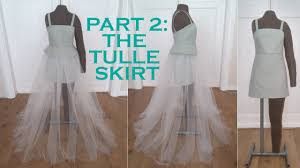 diy 2 in 1 part 2 detachable tulle skirt sew along