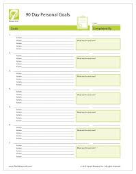 Personal Goal Setting Worksheet - The 7 Minute Life™
