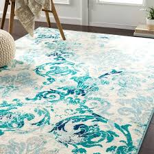 teal damask accent rug area rugs