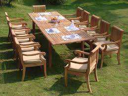 13 piece luxurious teak patio dining set