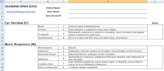 Gcs Scale Chart Excel Spreadsheets Help Glasgow Coma Scale Chart