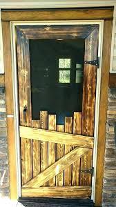 30 screen door wood 30 x 80 sliding screen door