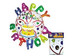 <b>Шар Action</b>! <b>фольгированный Happy</b> Birthday, 88*93 см купить в ...