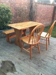 pine dining table bench chairs bargain free delivery