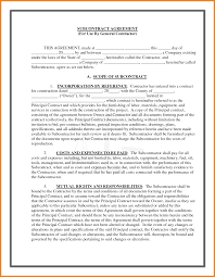 with material construction agreement 9 general construction contract template quick askips