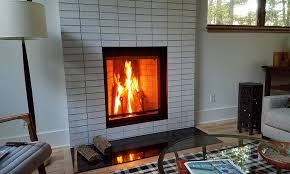 wood burning fireplace by renaissance fireplaces a division of rsf fireplaces this client was under going new construction and we coordinated with