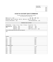 6-7 Family Medical History Template | Resumetem