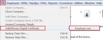 Digital Certificate Adding A Digital Certificate Employers Documentation Thesaurus