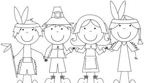 Pilgrim And Indian Coloring Pages Pilgrim And Coloring Pictures