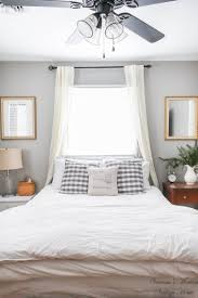 Bedroom Design With Bed In Front Of Windows Home Tour Bed Without Headboard Guest Bedrooms Window