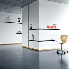 office wall decorating ideas. Office Wall Decorating Ideas Sticker Life Is Beautiful Business . I