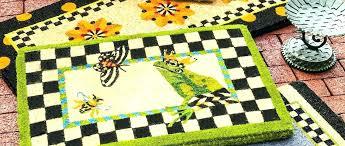 mackenzie childs rugs vinyl rug runner poppy fields 4