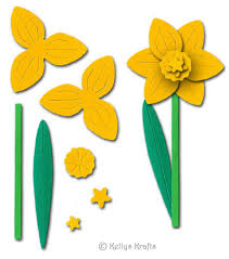 Daffodil Paper Flower Pattern Daffodil Flower Sculpting Crafting Kit Yellow 0 49