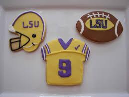 Football Cookie Cake Designs Lsu Football Cookies Football Cookies Tiger Cookies