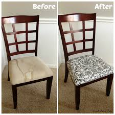 Dining Room Makeover Before After DIY Home Decor Ideas Simple Reupholstered Dining Room Chairs