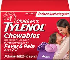 Jr Strength Acetaminophen Dosage Chart Children S Tylenol Chewables