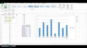 how to make a histogram in excel creating a histogram with excel 2013