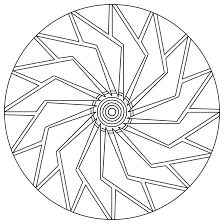 Small Picture Easy Mandala Coloring Pages Coloring Coloring Pages