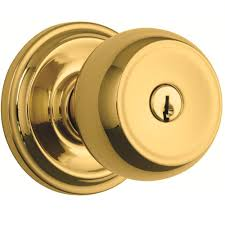 Decorating door knob sets keyed alike photos : Brinks Home Security Stafford Polished Brass Keyed Entry Push Pull ...
